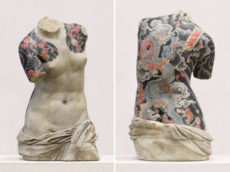 italian artist gives classical sculptures criminal tattoos fy 7