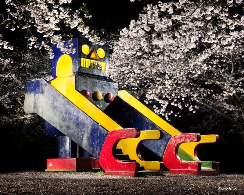 japanese playground equipment at night kito fujio fy 9