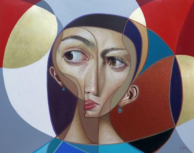 neo post cubism portraits belin fy 8