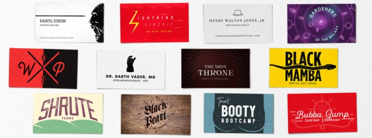 pop culture business cards hero