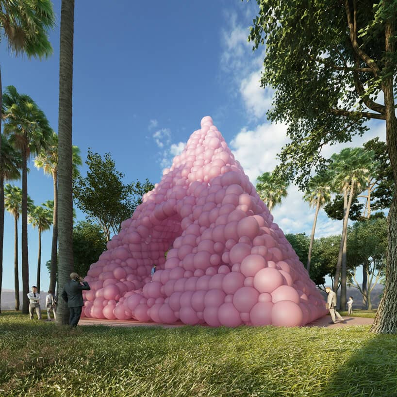 town and concrete cyril lancelin pyramid pavilion pink balloons fy 1