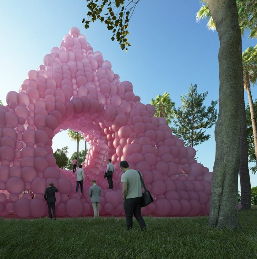 town and concrete cyril lancelin pyramid pavilion pink balloons fy 5