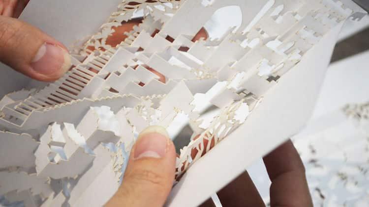 3d kirigami pop up paper lamp freeyork 3
