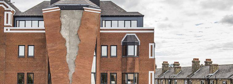 alex chinneck broken brick facade fy 12
