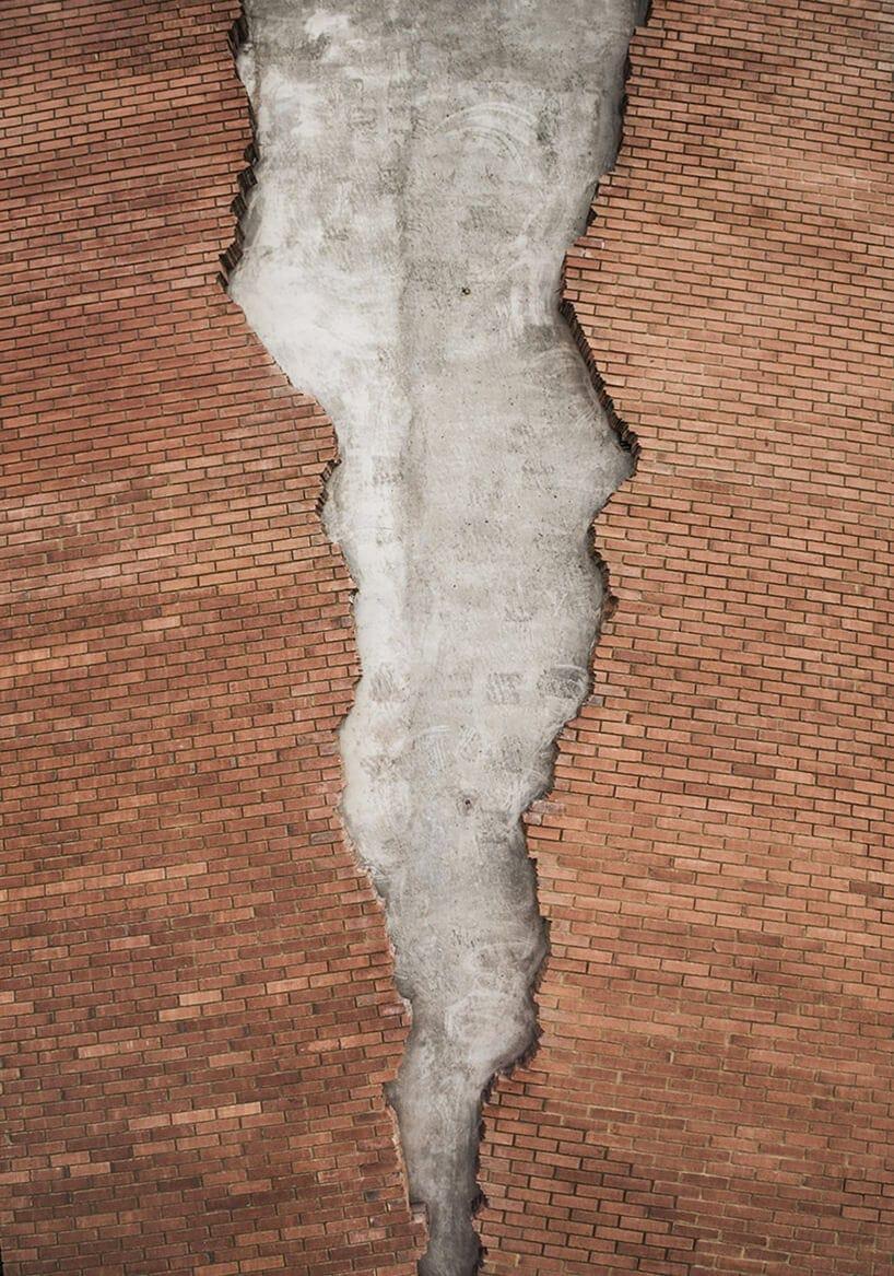 alex chinneck broken brick facade fy 4