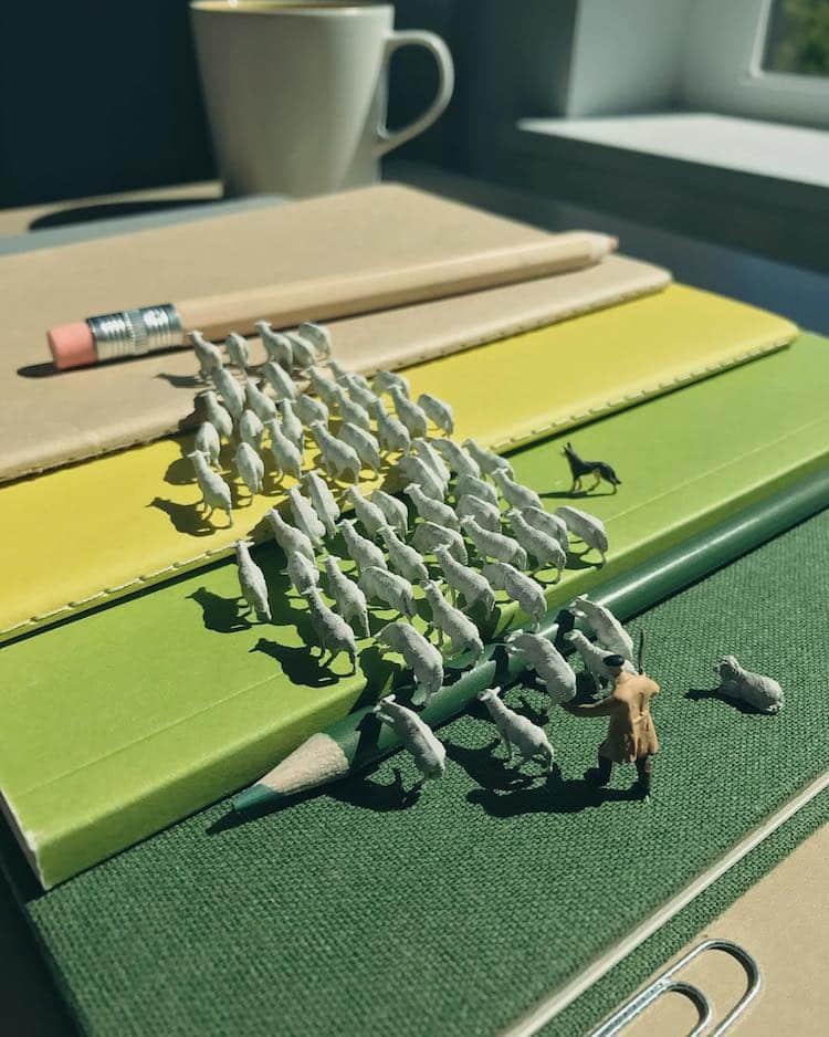 derrick lin tiny sculptures office life fy 10