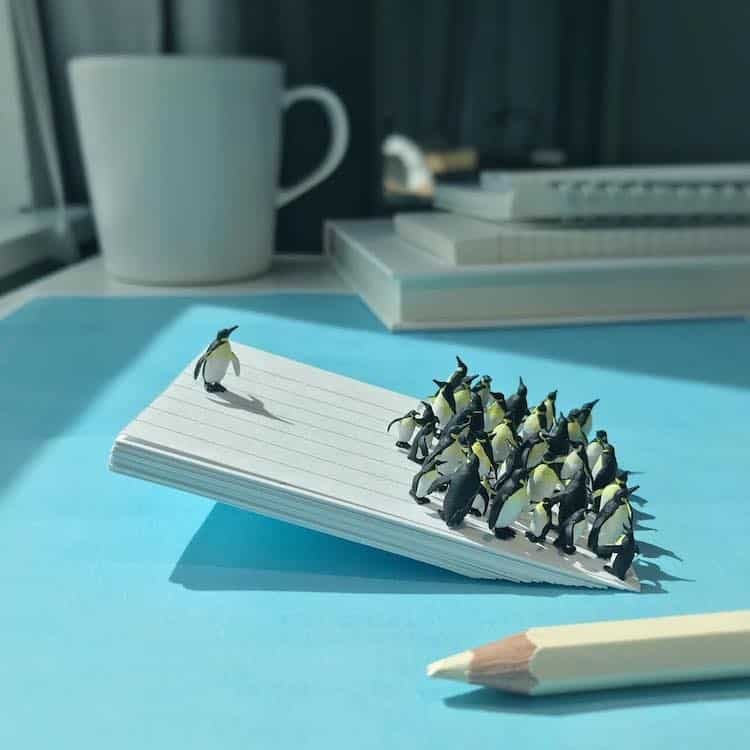 derrick lin tiny sculptures office life fy 11