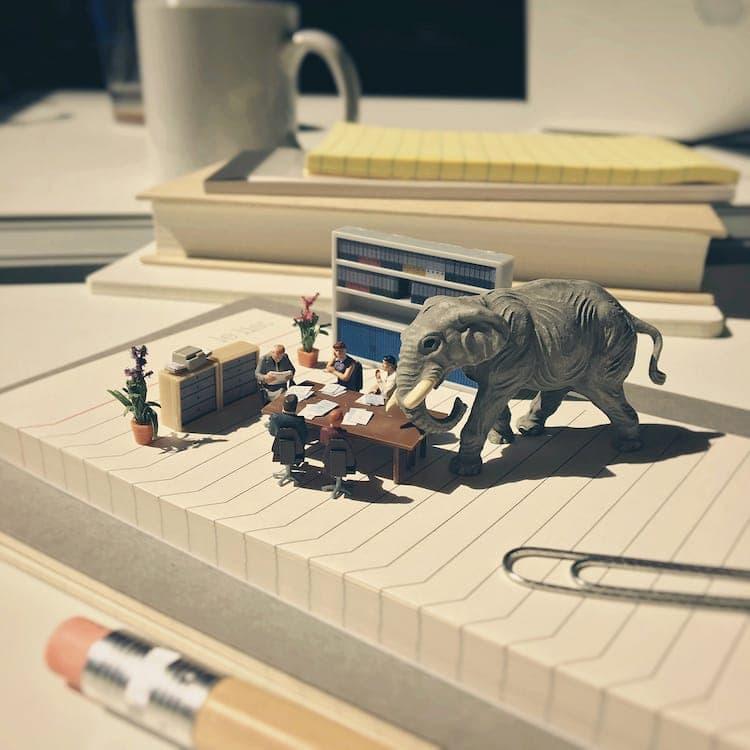 derrick lin tiny sculptures office life fy 5
