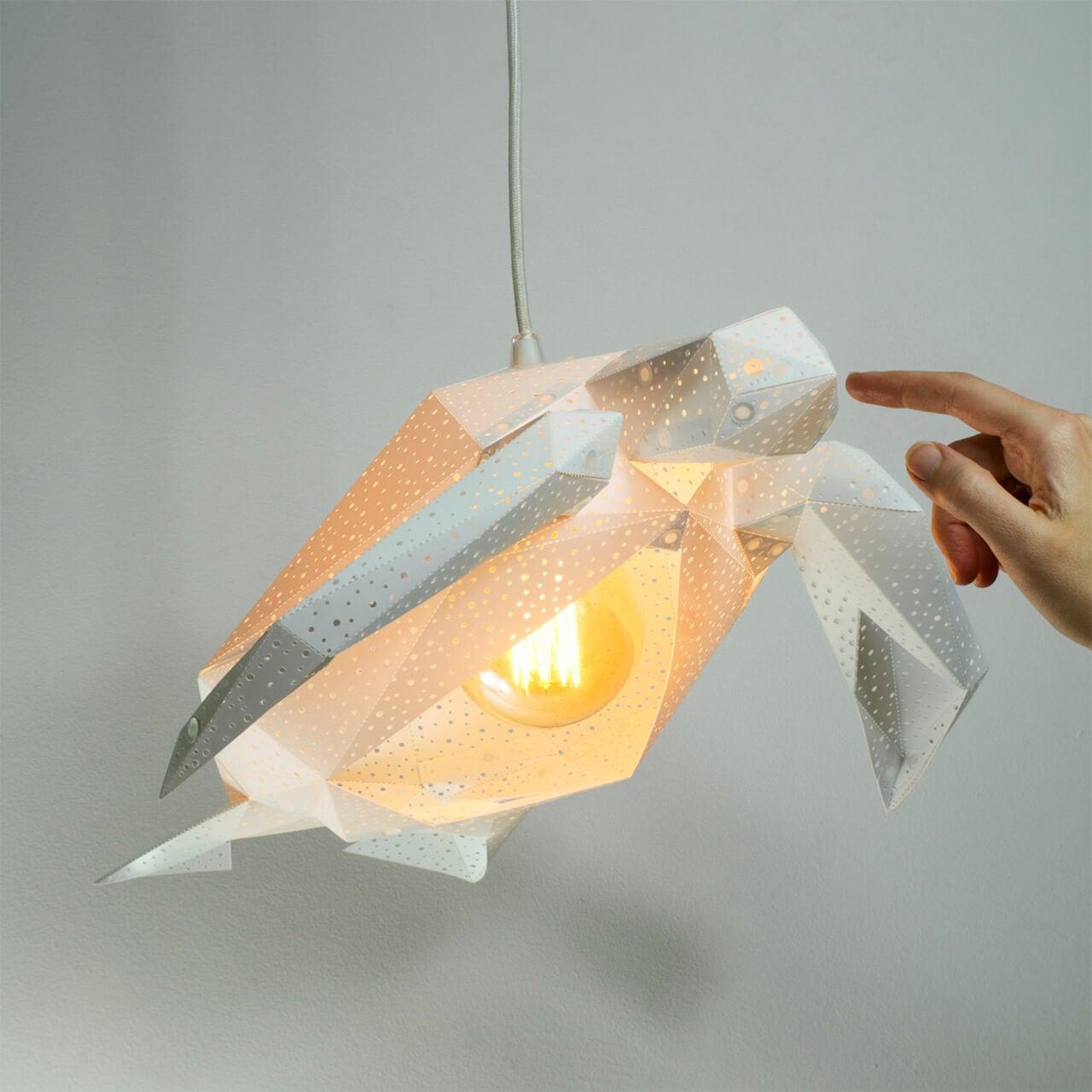 diy papercraft light shades vasili 7