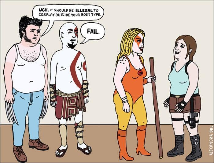 double standards illustrations freeyork 3