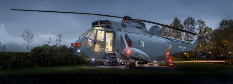 helicopter hotel glamping stirling scotland fy 1