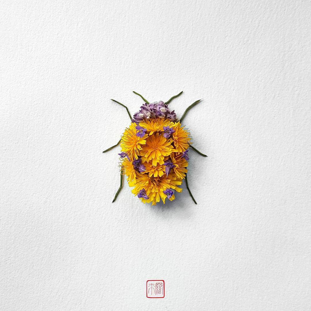 insect flower arrangements raku inoue freeyork 3