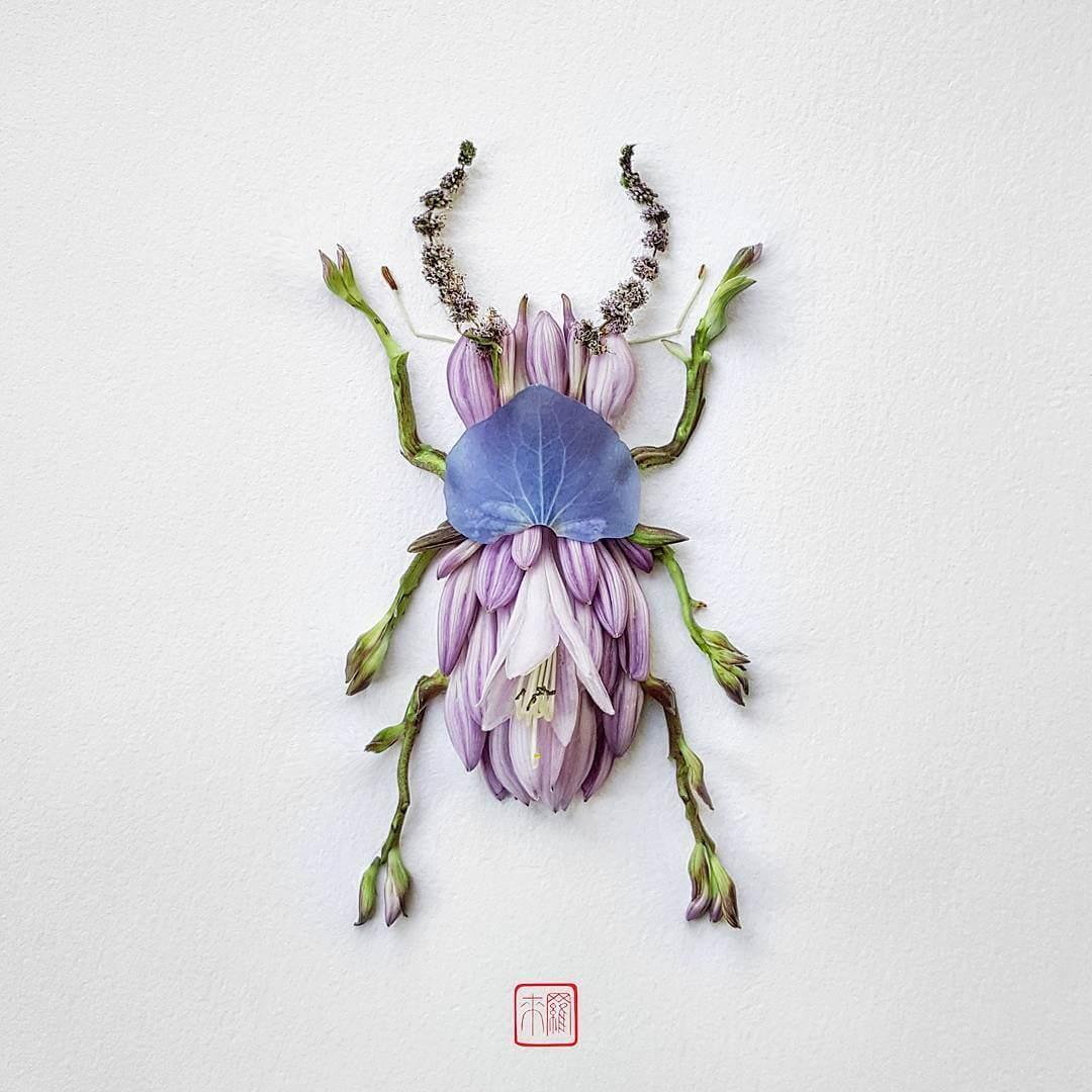 insect flower arrangements raku inoue freeyork 7