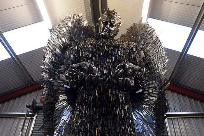 knife angel sculpture alfie radley fy 2