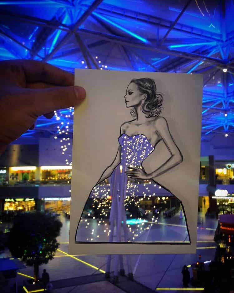 paper cut out art fashion design shamekh al bluwi fy 1