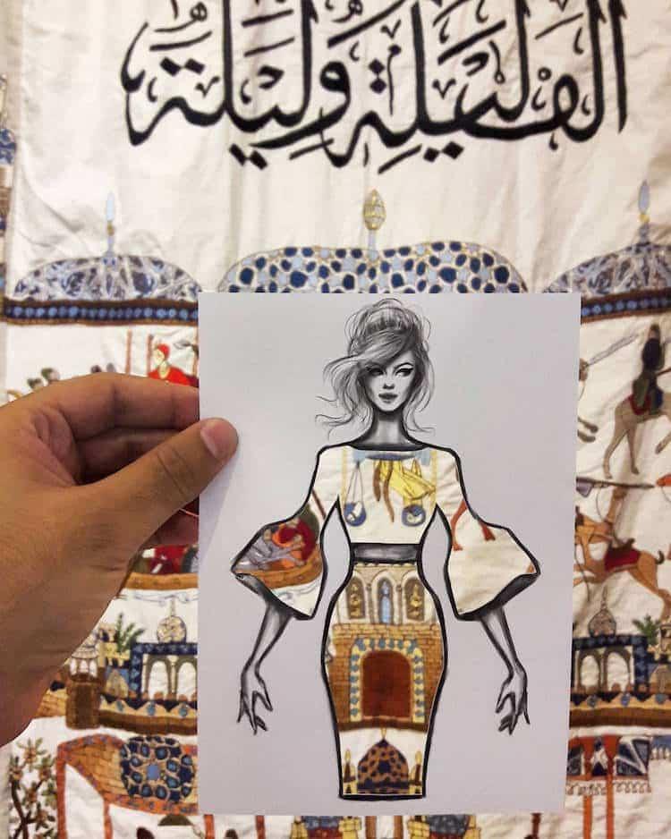 paper cut out art fashion design shamekh al bluwi fy 11