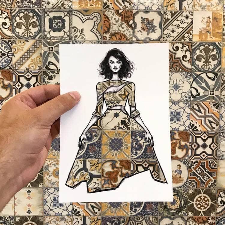 paper cut out art fashion design shamekh al bluwi fy 12