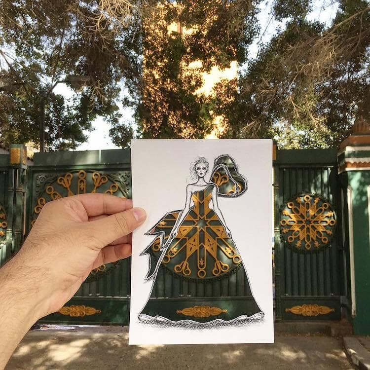 paper cut out art fashion design shamekh al bluwi fy 13