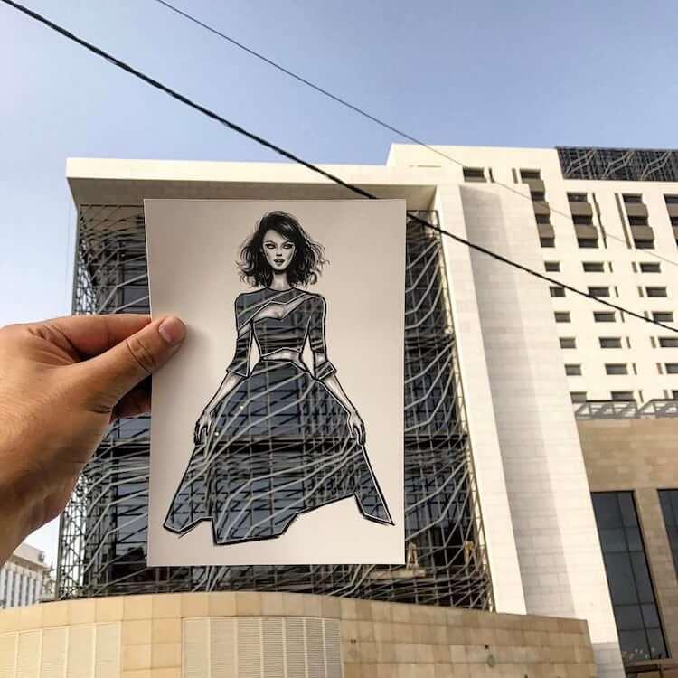 paper cut out art fashion design shamekh al bluwi fy 14