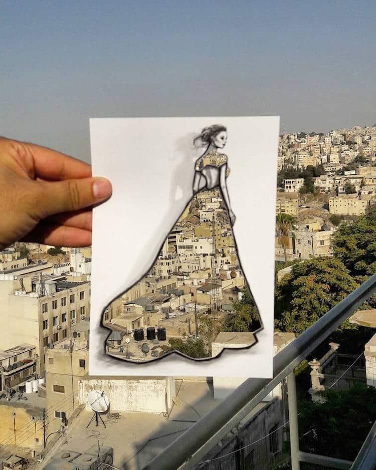 paper cut out art fashion design shamekh al bluwi fy 15