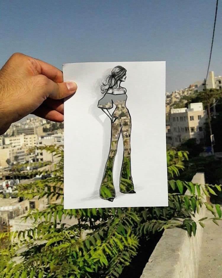 paper cut out art fashion design shamekh al bluwi fy 16