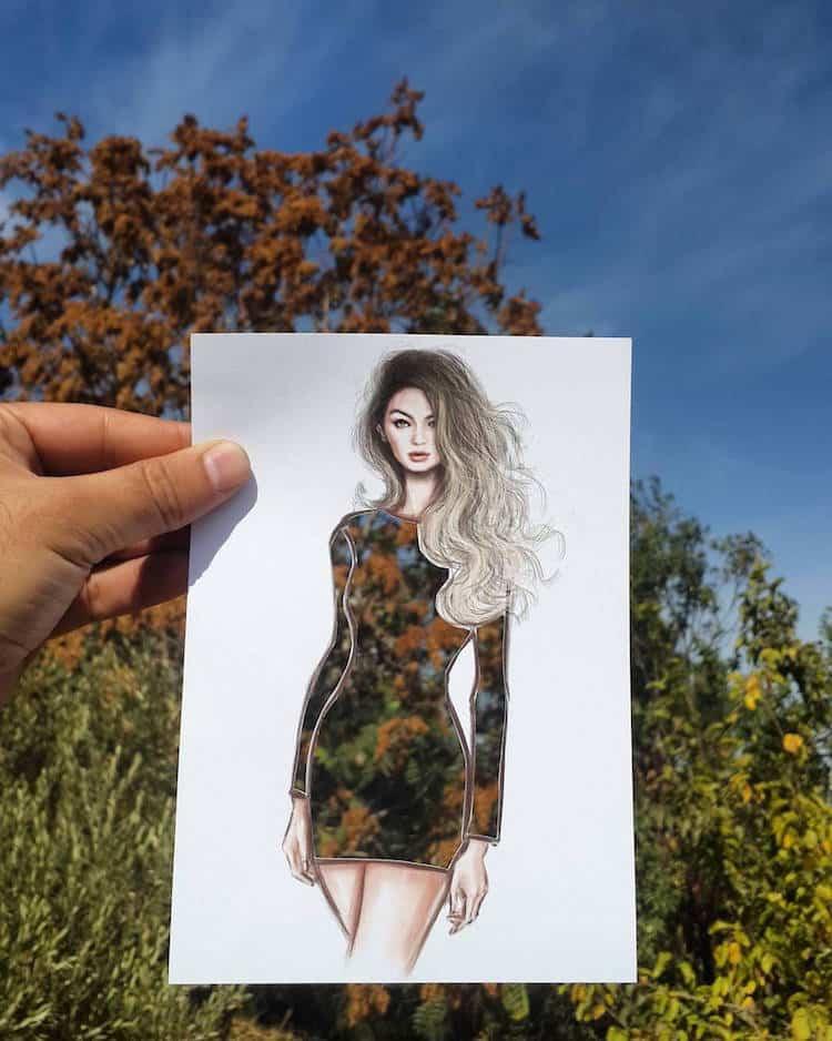paper cut out art fashion design shamekh al bluwi fy 17