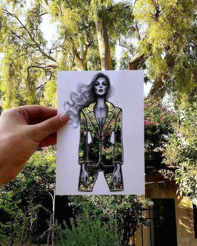 paper cut out art fashion design shamekh al bluwi fy 18