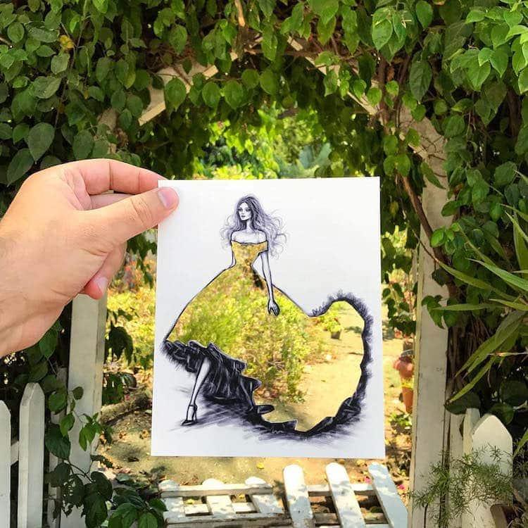 paper cut out art fashion design shamekh al bluwi fy 19