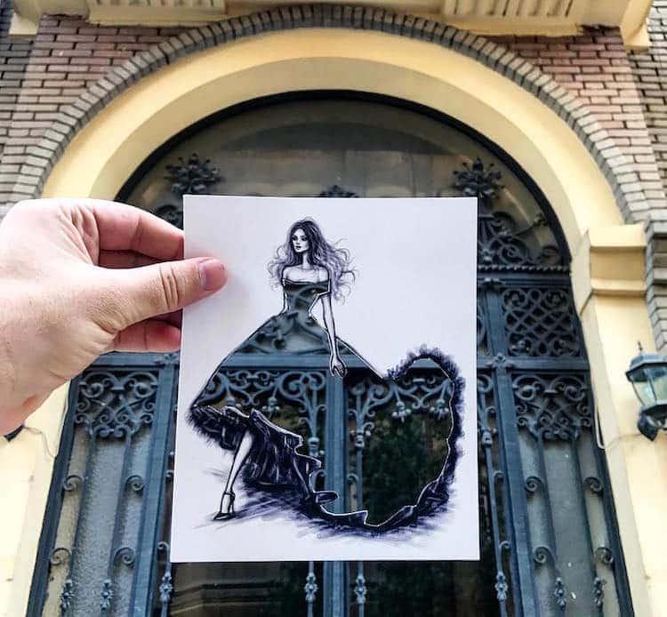 paper cut out art fashion design shamekh al bluwi fy 20