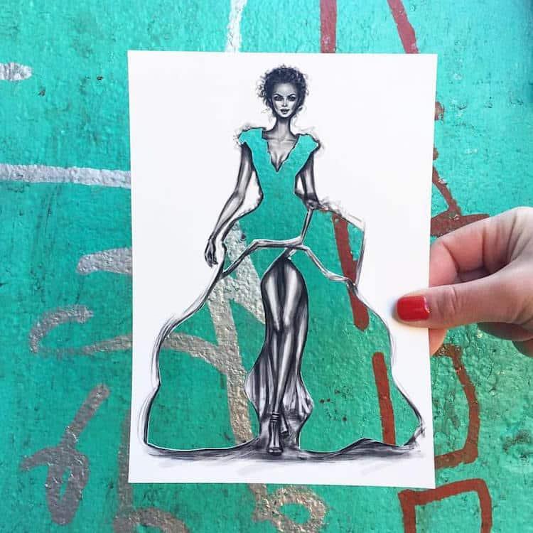 paper cut out art fashion design shamekh al bluwi fy 5