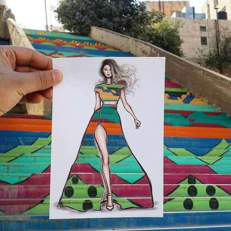 paper cut out art fashion design shamekh al bluwi fy 6
