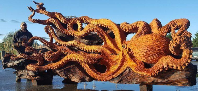 carved redwood octopus freeyork 1