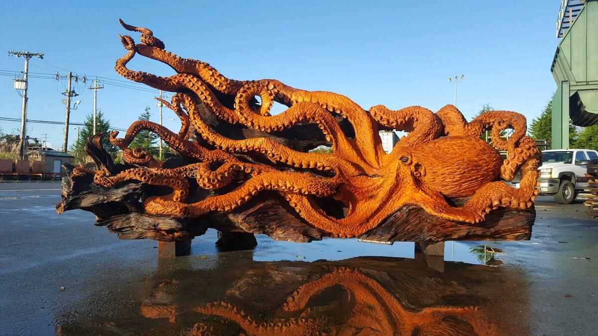 carved redwood octopus freeyork 5