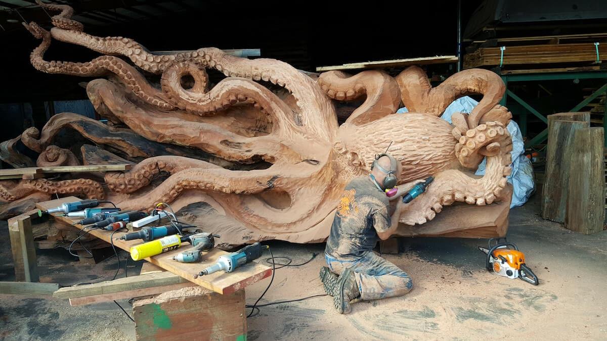 carved redwood octopus freeyork 8