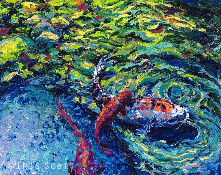 finger painting artist iris scott fy 10