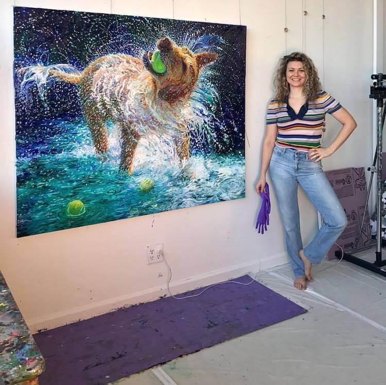 finger painting artist iris scott fy 11