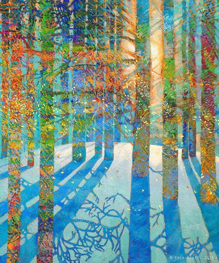 finger painting artist iris scott fy 15