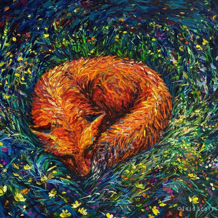 finger painting artist iris scott fy 6