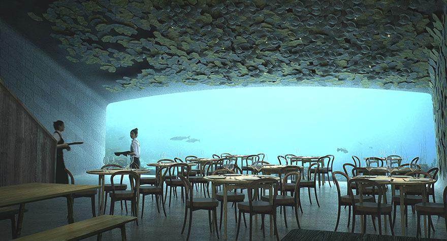 underwater restaurant under snohetta norway fy 4