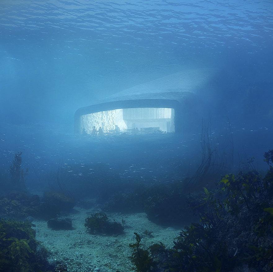 underwater restaurant under snohetta norway fy 5