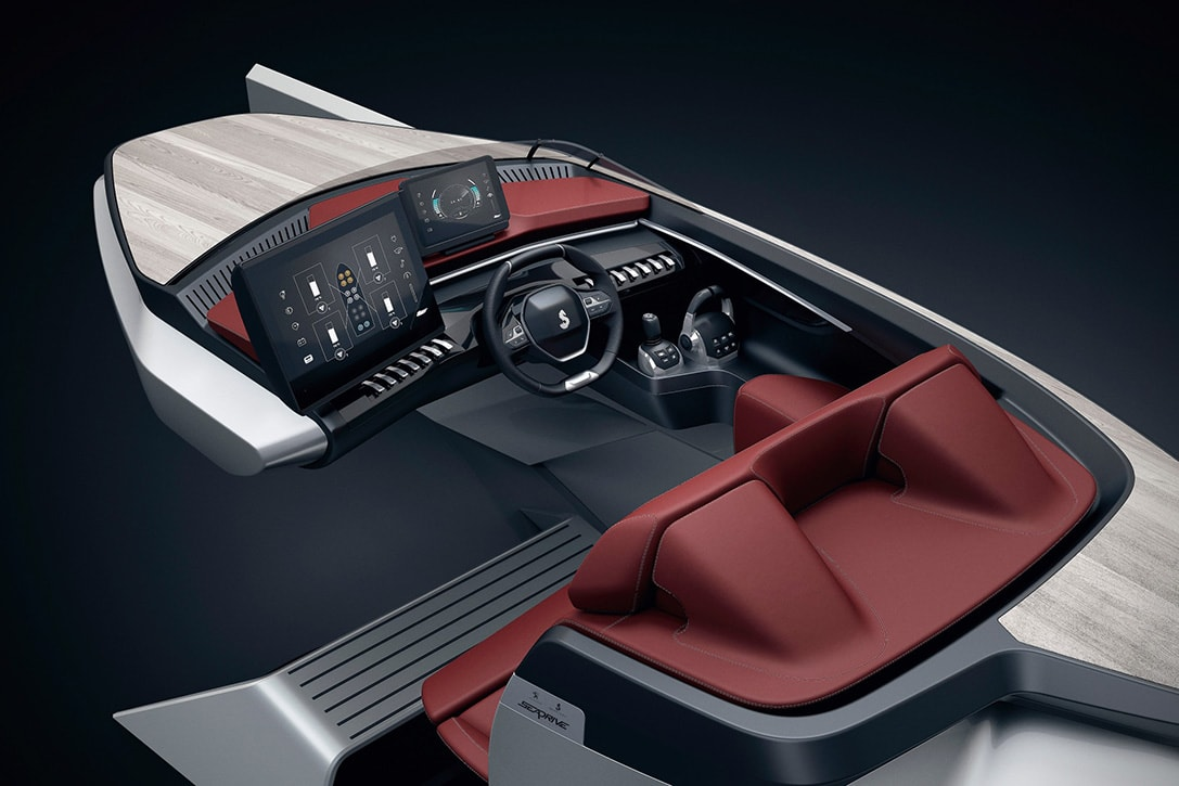 peugeot luxury speed boat concept fy 4