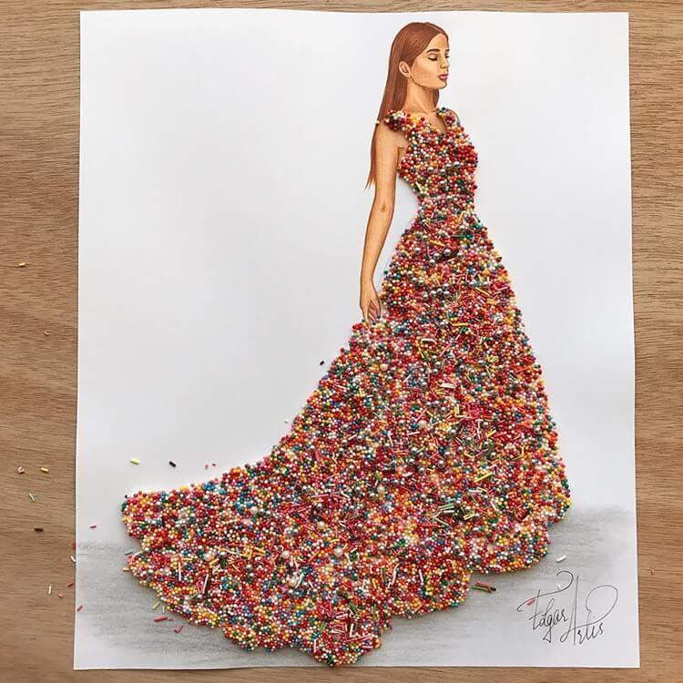 3d fashion dresses edgar artis 7
