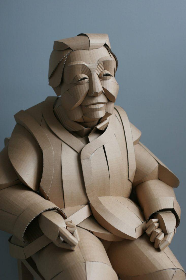 ife size cardboard sculptures warren king fy 1