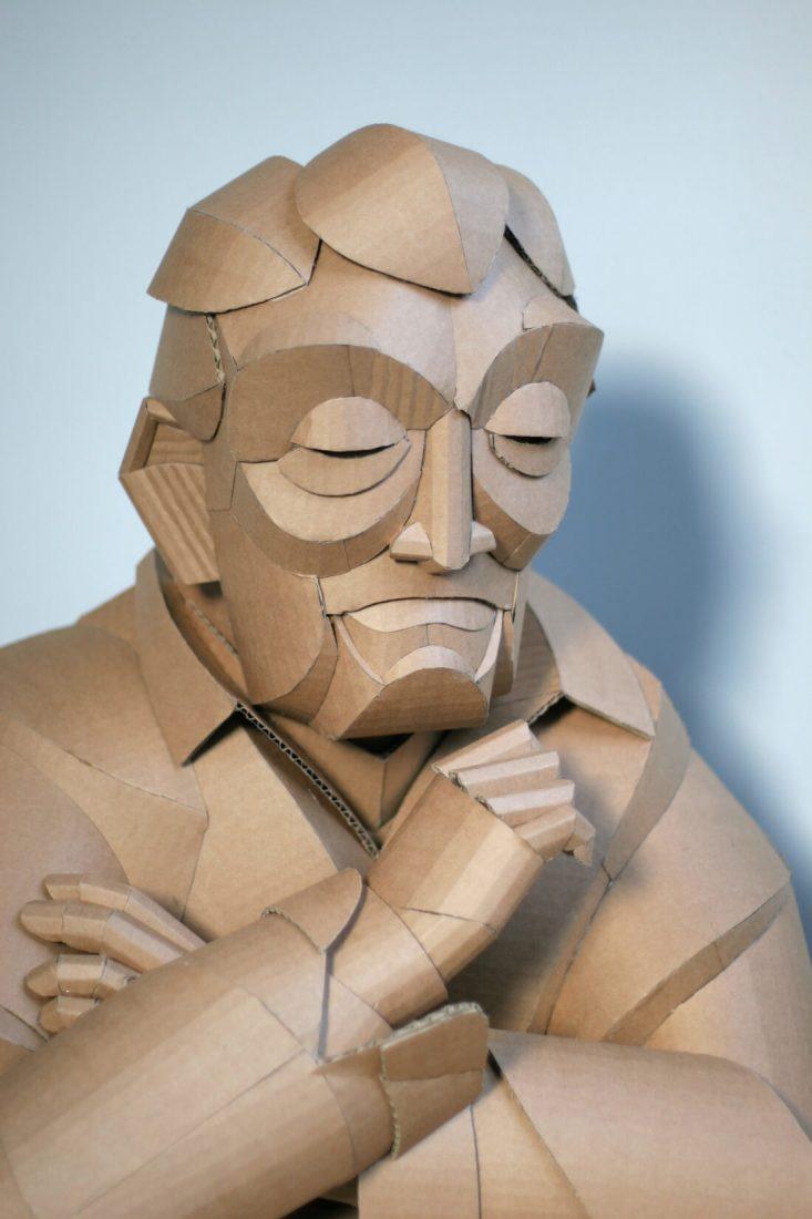 ife size cardboard sculptures warren king fy 2
