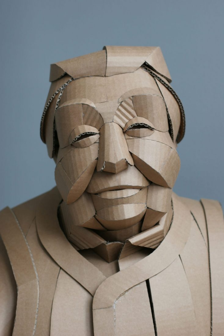 ife size cardboard sculptures warren king fy 3