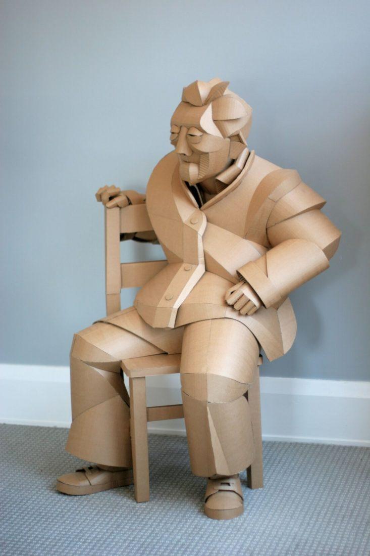 ife size cardboard sculptures warren king fy 4