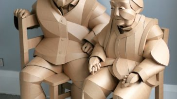 ife size cardboard sculptures warren king fy 5