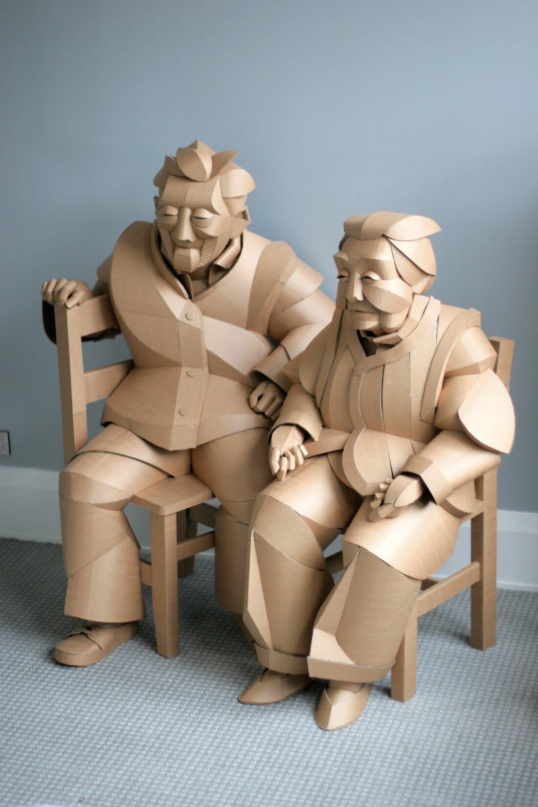 ife size cardboard sculptures warren king fy 5