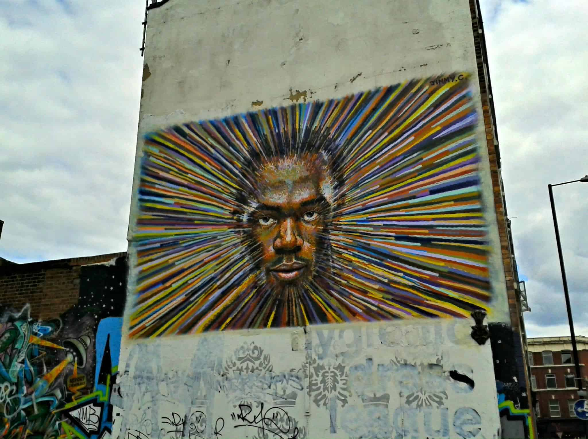 Graffiti in Shoreditch London Usain Bolt by Jimmy C 9422253915