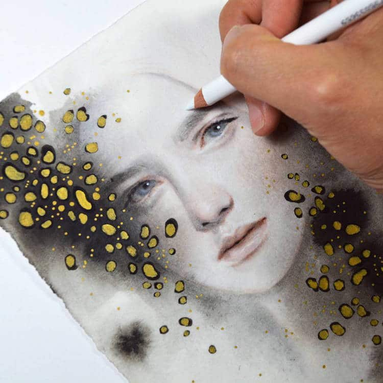 fairytale colored pencil drawings tran nguyen 14